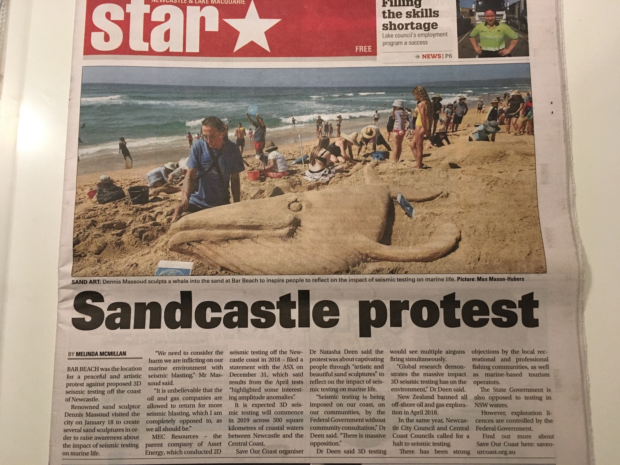 saveourcoast sculpting front page